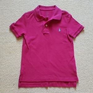 Ralph Lauren Polo pink with blue pony size 5
